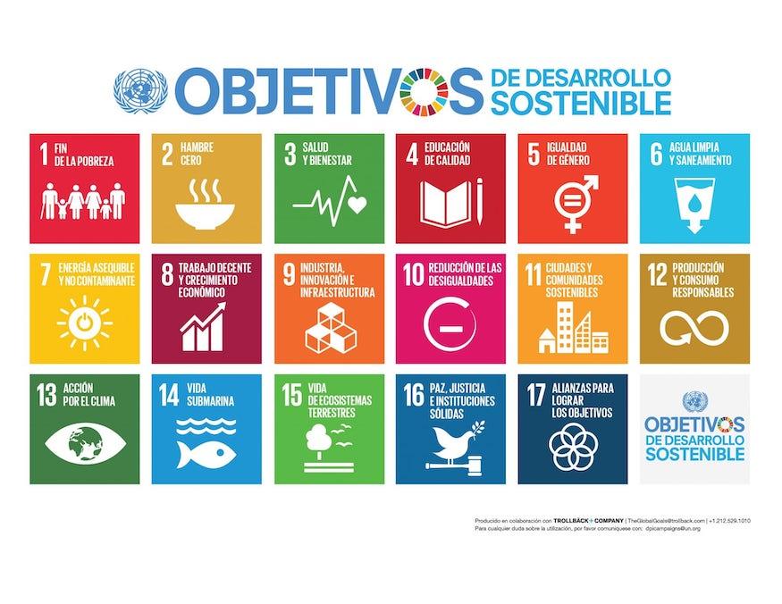 17 ODS Objetivos de Desarrollo Sostenible